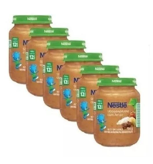 Papinha Nestlé Strogonofinho Com Arroz 18 Potes Promoção