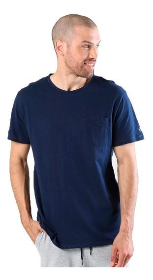 Converse Remera M/c Lifestyle Hombre Pocket Azul