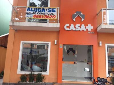 Salão Comercial Para Locação, Com 2 Sacadas, Coz, Wc. No Centro De Cotia. - Sl0001