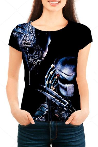 Camiseta Babylook Feminina Predador - Mn02