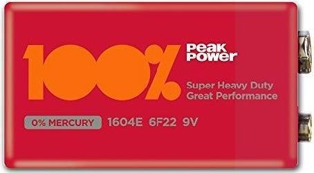 Kit 10 Pilha Bateria 9v Peak Power 100% Original