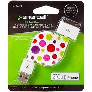 Enercell Dot Usb Retractable Synccharge 246 Pies Cable De Da