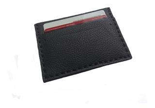 Porta Cartão Em Couro Para Cnh Cartões E Cédulas Modelo 3.