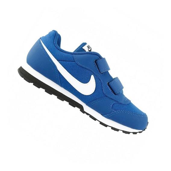 Tênis Calçado Nike Md Runner Infantil Menino Azul - Original