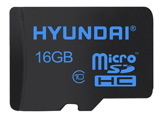 Cartão Mem Micro Sd Hyundai 16gb + 1 Adpt. Class 10