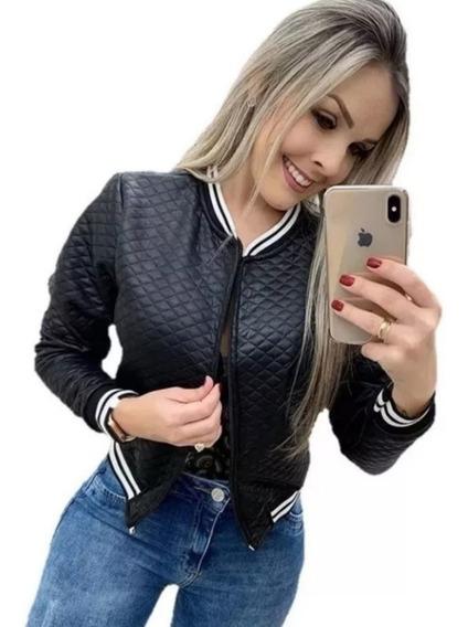 Jaquetinha Bomber Jaqueta Casaco Blusa Frio Metalassê Barat