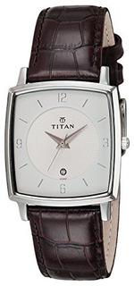 Reloj Clasico Analogico Titan Classic White Dial Ne9159sl01