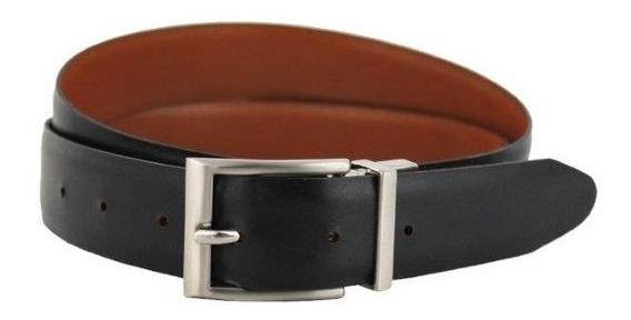 Evolución - Cinturón 55 Doble Vista Negro Y Naranja