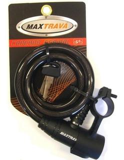 Cadeado Trava Espiral 12x1m Com Suporte Fume (maxtrava)