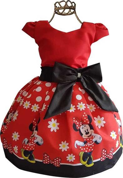Vestido Minnie Vermelha Super Luxinho