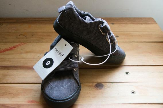 Zapatos Cat And Jack Niño Gris Tipo Converse De Pana