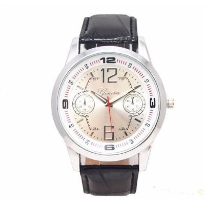 Relógio Caixa Grande Masculino De Pulso Homem Pulseira Preto