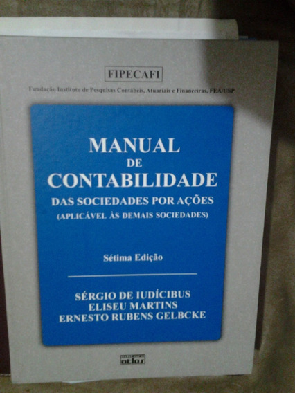 Manual De Contabilidade Das Sociedades Por Ações 7ª Edição