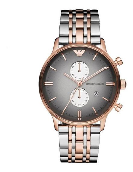 Reloj Analógico Marca Armani Modelo: Ar1721 Color Plateado P