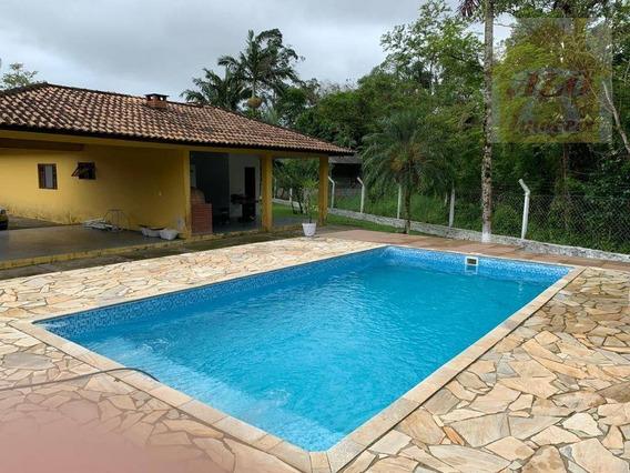 Chácara Com 3 Dormitórios À Venda, 2600 M² Por R$ 410.000 - Enseada - Iguape/sp - Ch0018
