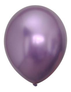 Globos R12 Cromados Satinados Paquete X10 1 Color Bomba
