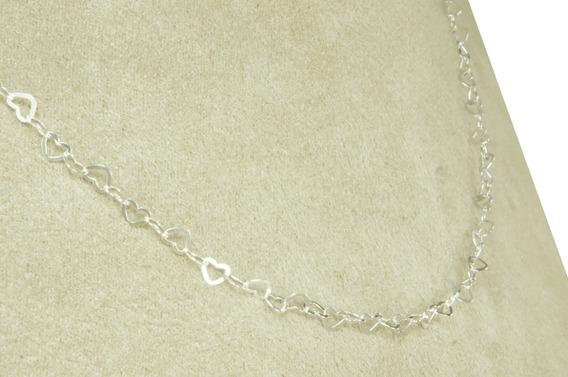 Choker Coração 40 Cm (m1,8) Prata 925