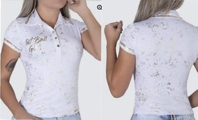Blusa Polo Branca Original Pit Bull Jeans