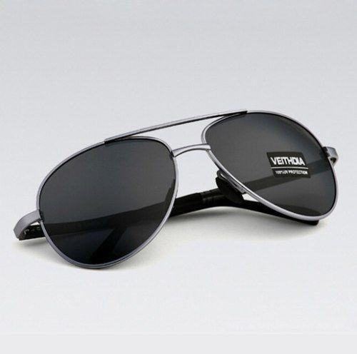 Óculos Veithdia Polarizado Aviador Unissex Proteção Uv400