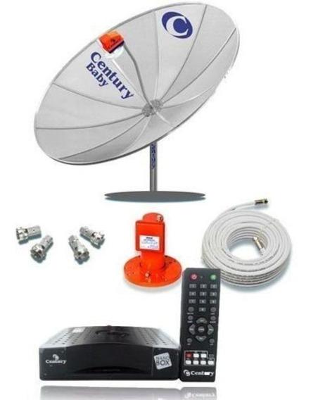 Antena Parabolica Century Completa + Receptor