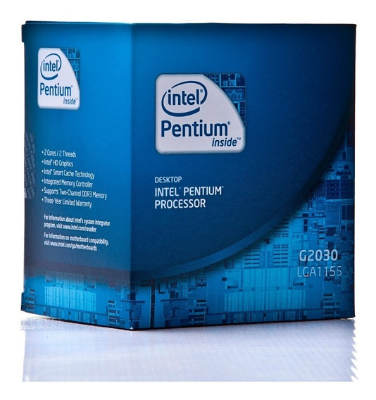 Processador Intel Pentium G2030, 1155 3.0ghz+cooler Original