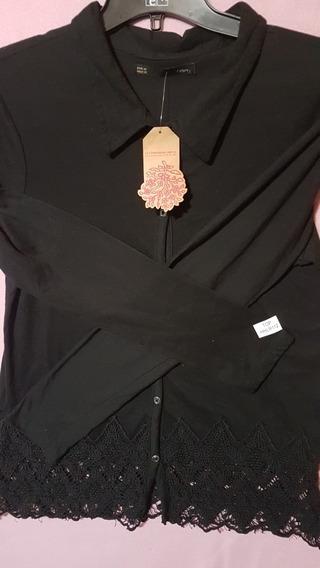 Camisa Mujer Puntillas En Borde Compañia Del Oriente