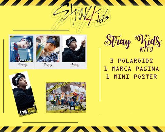 Kit Stray Kids Membros Polaroid Mini Pôster Fanmade Kpop