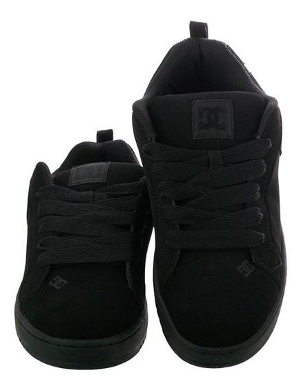 Tenis Para Niños Dc Shoes Court Graffik Negro-negro