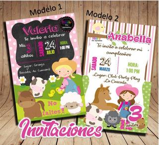 Invitaciones Para Cumpleaños Granja En Mercado Libre Colombia