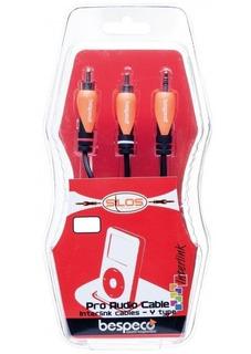 Cable Miniplug Stereo A 2 Rca 1,8 Metros Bespeco Slymsr180