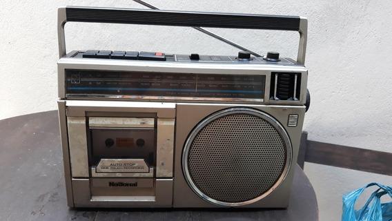 Rádio Portátil Toca Fita National Usado Modelo Rx1384