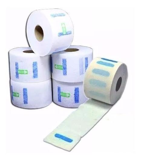Gola Higiênica Protetor Descartável Pescoço 5 Rolos 500 Un