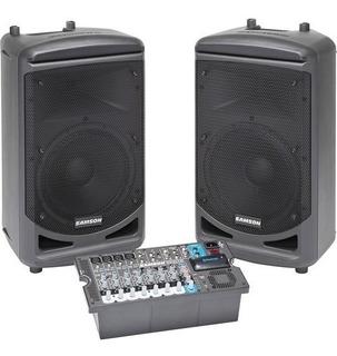 Samson Xp1000b Sistema De Sonido Portartil Bluetooth 2x 500w