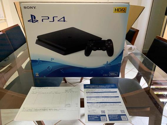 Ps4 500 Gb Japonês Novo Na Caixa De Papelão Da Sony.