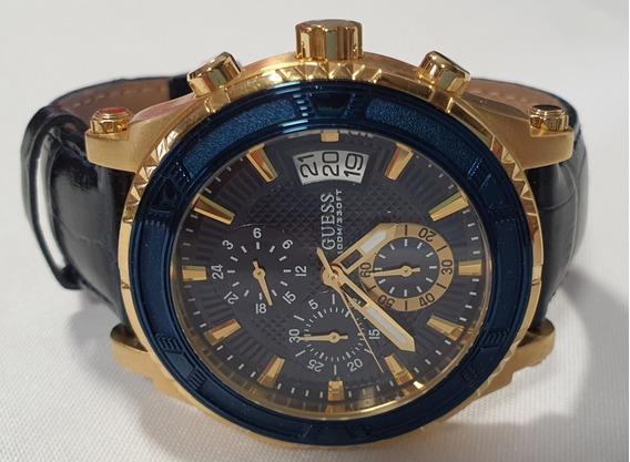 Reloj Guess Azul/dorado. Caballero Original.