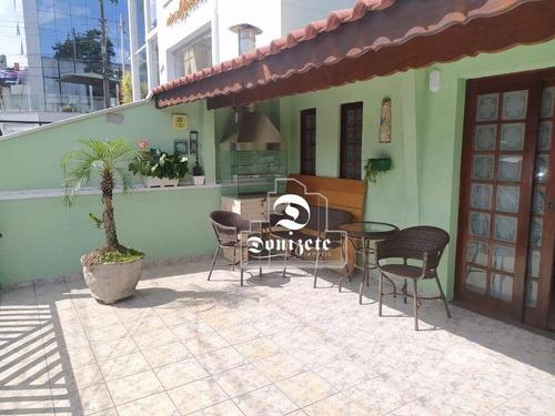 Sobrado Com 3 Dormitórios Para Alugar, 200 M² Por R$ 4.500,00/mês - Campestre - Santo André/sp - So3579