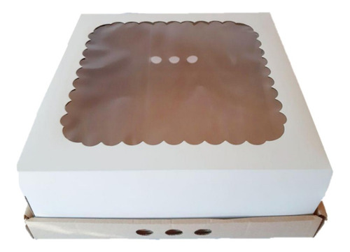 Caja Para Tortas Desayuno Con Visor X5u 30x30x12 Michaels C