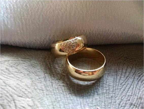 Aliança De Casamento - Banhada A Ouro 18k - Chuva
