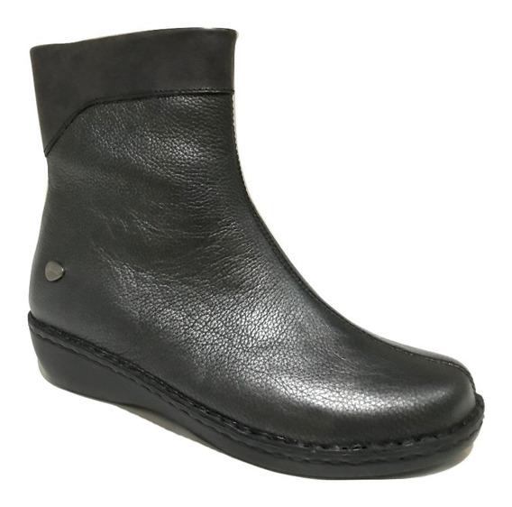 Bota Cavatini 52-1583 Fl. Metalizado Negro -bota Puño Y Tach