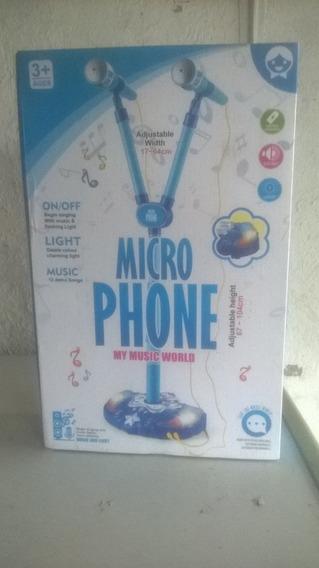Juguete De Microfono Para Niños Luces Y Sonido