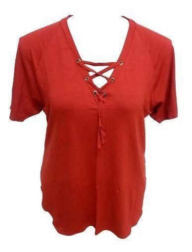 Blusa Bata De Malha Cordão No Decote Viscolycra Plus Size G2