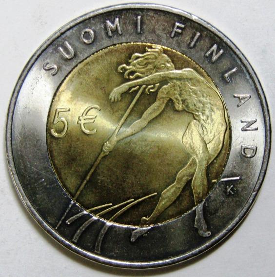 Finlandia 5 Euros Bimetalica 2005 Iaaf Wold Championship Unc