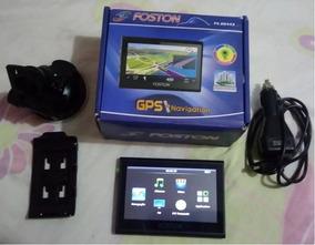 Gps Navegador Veicular Foston 4.3 Usado, Com Bluetooth