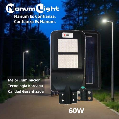 Alumbrado Público Con Panel Solar Integrado 60w