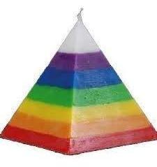 Vela En Forma De Pirámide 7 Potencias Ritualizada