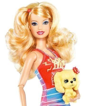 Boneca Barbie® Fashionistas Summer E Cachorro 2012 Rara Nova