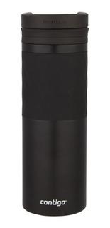 Termo De Acero Inox Twistseal Ceramica Negro 473 Ml Contigo