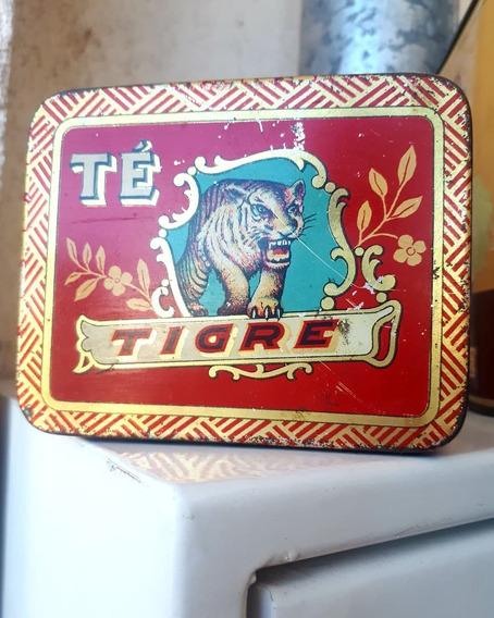 Antigua Lata Colección Te Tigre Años 50