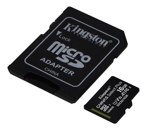 Imagen 1 de 6 de Memoria Microsd Kingston 16gb Clase 10 A1 100mb/s Micro Sd