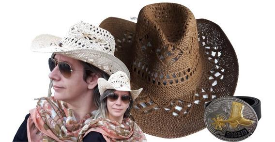 Cinto Country Feminino Rodeio Festa Junina + Chapéu